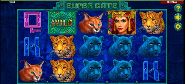 слот о котах Super Cats