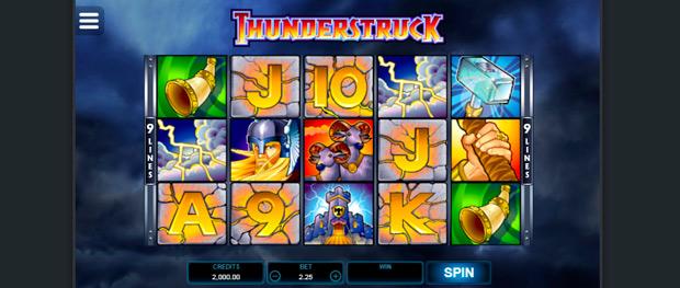 интерфейс автомата Thunderstruck